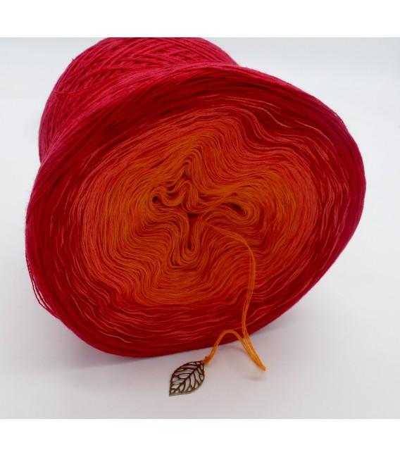 Blutorange (красного апельсина) - 3 нитевидные градиента пряжи - Фото 4