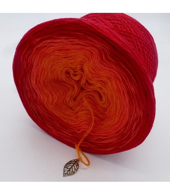 Blutorange (красного апельсина) - 3 нитевидные градиента пряжи - Фото 5