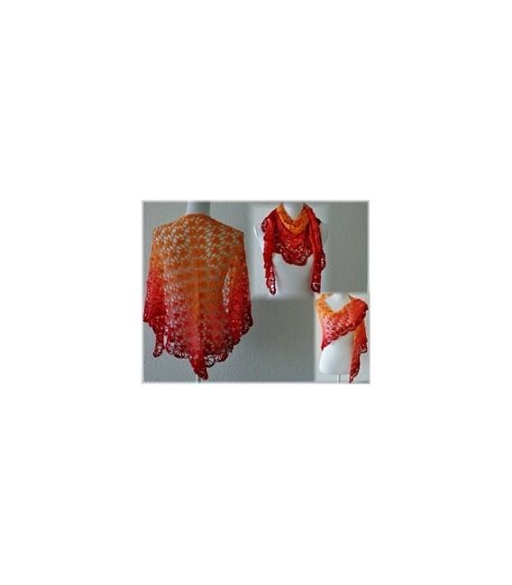 Blutorange - Farbverlaufsgarn 3-fädig - Bild 10