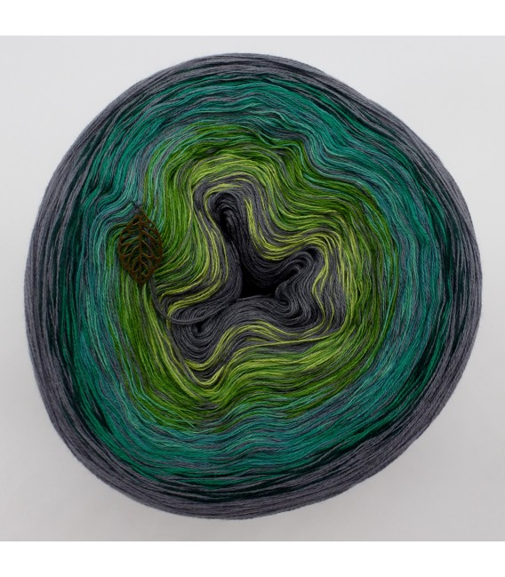 Green - green gras of home 3F - medium gray continuously - 3 ply gradient yarn image 2