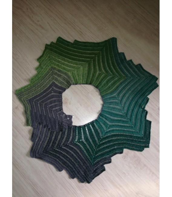 Green - green gras of home 3F - светло-серый непрерывно - 3 нитевидные градиента пряжи - Фото 5