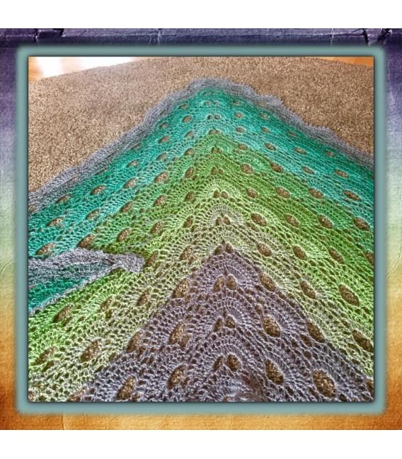 Green - green gras of home 3F - светло-серый непрерывно - 3 нитевидные градиента пряжи - Фото 8