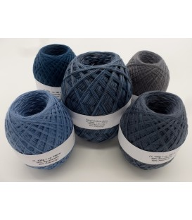 Mega package Blue Jeans - 5 skeins - 600g
