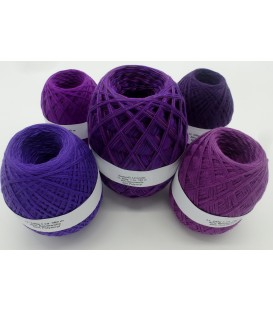 Megapaket Lavendel - 5 Knäule - 600g