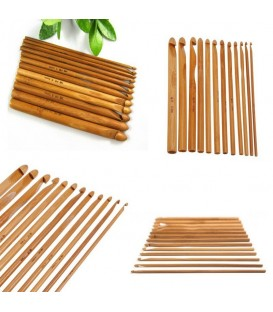 Crochet Needle Set Bamboo 12 Sizes