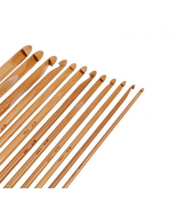 Вязание крючок набор Бамбуковые 12 размеров - Фото 2