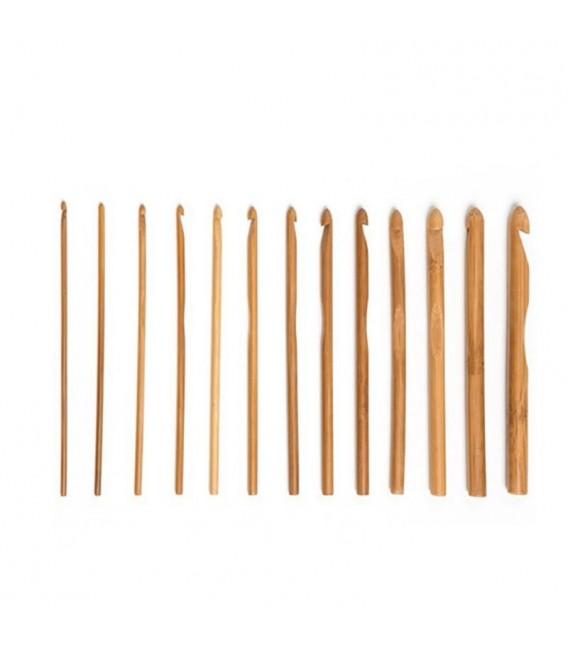 Вязание крючок набор Бамбуковые 12 размеров - Фото 3