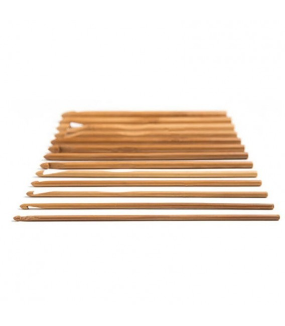 Вязание крючок набор Бамбуковые 12 размеров - Фото 4