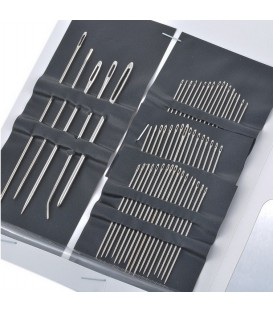 Stainless Steel Sewing Needles 1 Set (55 pieces)