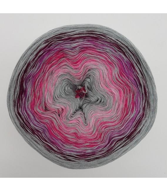 Crazy Oase 10 - Silber-meliert durchlaufend - Farbverlaufsgarn 4-fädig - Bild 2