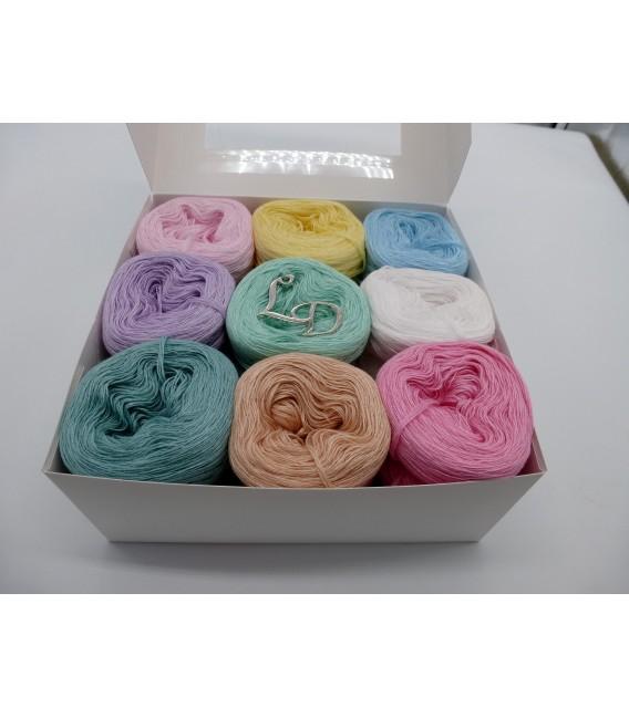 Un paquet Bobbelinchen Lady Dee's Farben des Lebens (Couleurs de vie) (4 fils - 900m) - couleurs pastel. - Photo 1