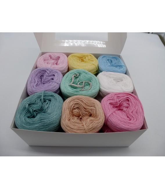 Un paquet Bobbelinchen Lady Dee's Farben des Lebens (Couleurs de vie) (4 fils - 900m) - couleurs pastel. - Photo 4