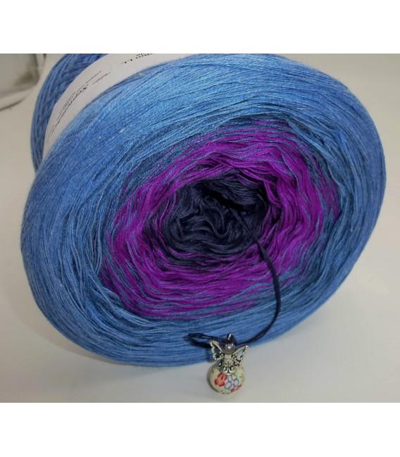 September (сентябрь) Bobbel 2017 - Жан синий пепел снаружи - 4 нитевидные градиента пряжи