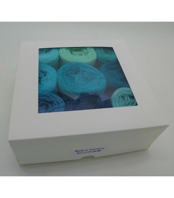 Eine Packung Bobbelinchen Lady Dee's Farben des Lebens (4fädig-900m) - Blautöne. Bild 2
