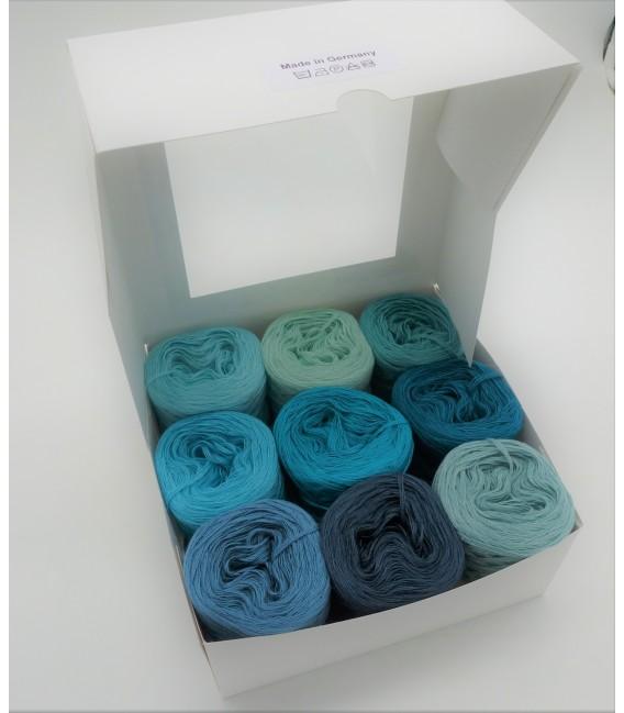 Eine Packung Bobbelinchen Lady Dee's Farben des Lebens (4fädig-900m) - Blautöne. Bild 3
