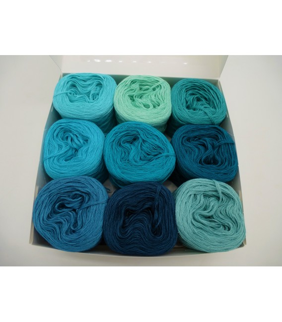 A pack Bobbelinchen Lady Dee's Farben des Lebens (colors of life) (4ply-900m) - turquoises colors - image 4
