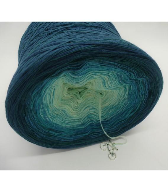 Smaragd küsst Petrol (Emerald kisses petrol) - 4 ply gradient yarn - image 5