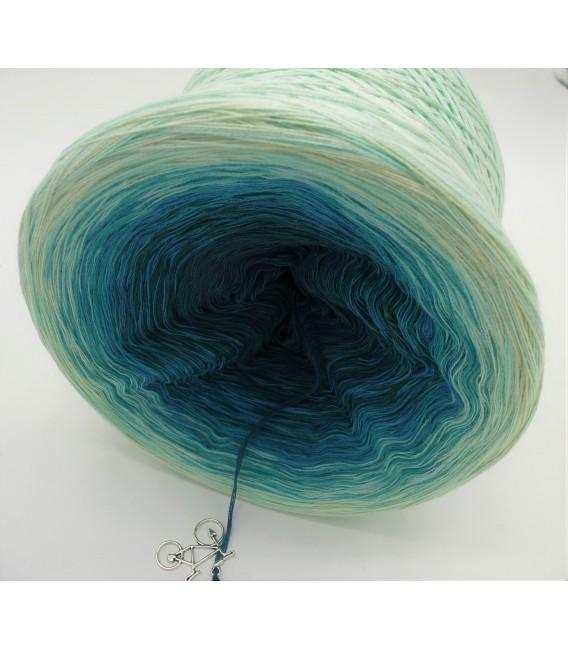 Smaragd küsst Petrol (Emerald kisses petrol) - 4 ply gradient yarn - image 8