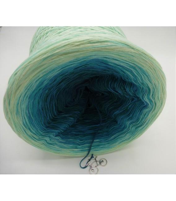 Smaragd küsst Petrol (Emerald kisses petrol) - 4 ply gradient yarn - image 9