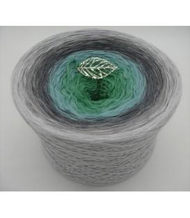 Silber küsst Jade - 4 ply gradient yarn