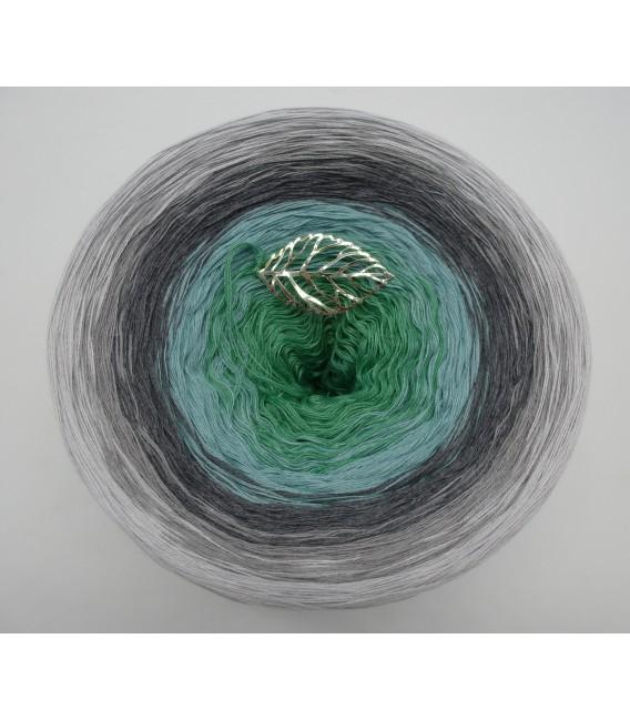 Silber küsst Jade - Farbverlaufsgarn 4-fädig - Bild 2