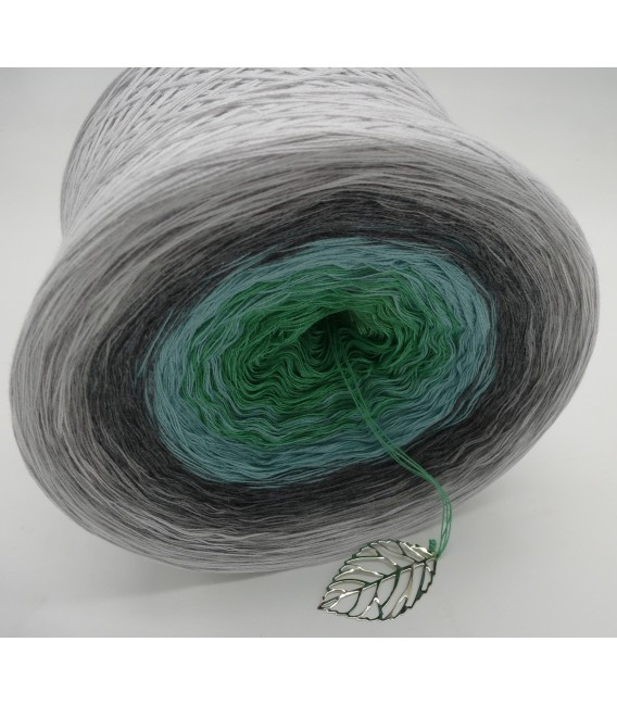 Silber küsst Jade - Farbverlaufsgarn 4-fädig - Bild 4