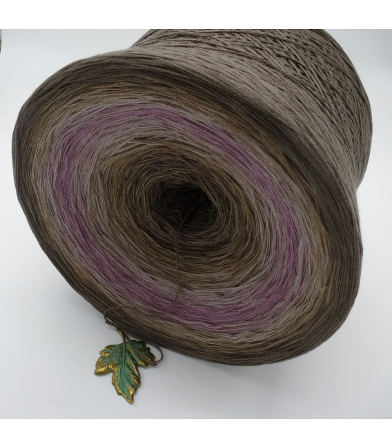 Ein Hauch Rosenholz (A touch of rosewood) Gigantic Bobbel - 4 ply gradient yarn - image 4