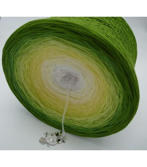 Grüne Aue im Sonnenlicht Gigantischer Bobbel - Farbverlaufsgarn 4-fädig - Bild 4