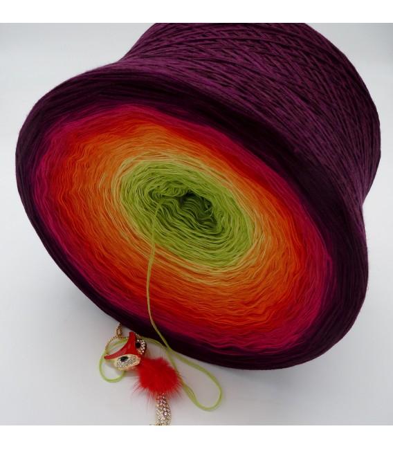 Traum der Blüten Gigantischer Bobbel - Farbverlaufsgarn 4-fädig - Bild 5