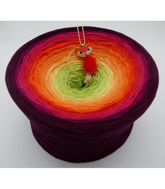 Traum der Blüten Gigantischer Bobbel - Farbverlaufsgarn 4-fädig - Bild 1