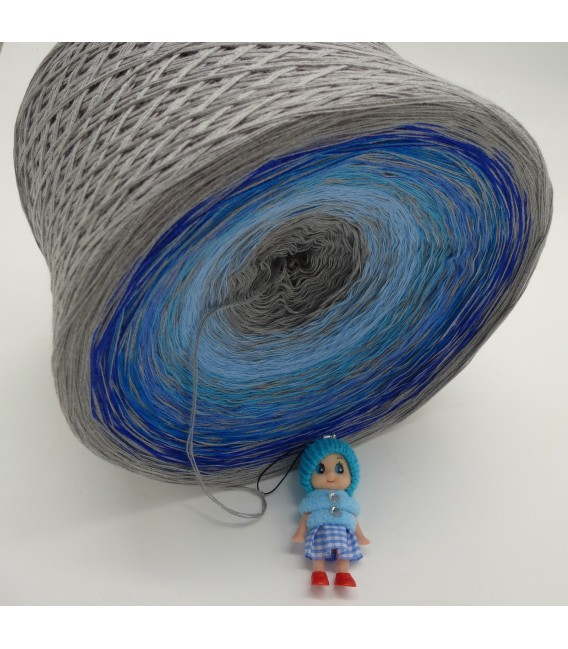 Blue Johnny Blue (Синий Джонни Синий) Гигантский Bobbel - 4 нитевидные градиента пряжи - Фото 4