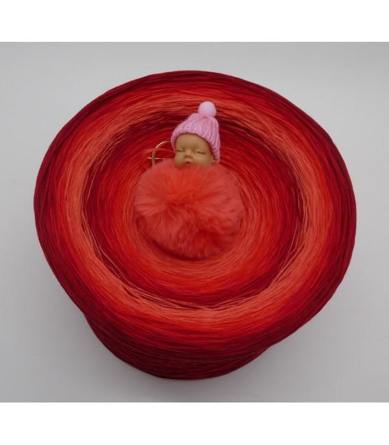 Red Roses (Красные розы) Гигантский Bobbel - 4 нитевидные градиента пряжи - Фото 2