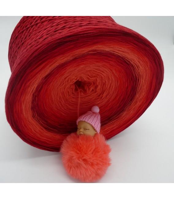 Red Roses (Красные розы) Гигантский Bobbel - 4 нитевидные градиента пряжи - Фото 6