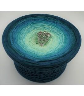 Smaragd küsst Petrol (Émeraude bisous essence) Gigantesque Bobbel - 4 fils de gradient filamenteux - photo 1