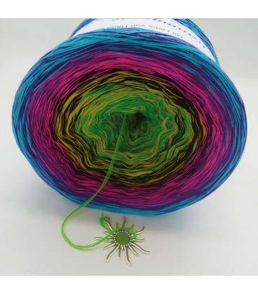 Sommerbunt mit Schwarz (Summer colorful with black) - 4 ply gradient yarn - image 4