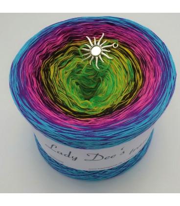 Sommerbunt mit Schwarz (Summer colorful with black) - 4 ply gradient yarn - image 2