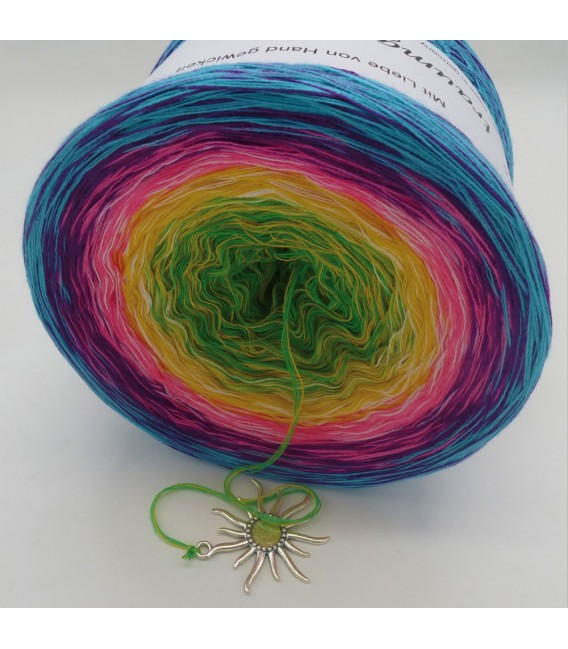 Sommerbunt mit Weiss (Summer colorful with white) - 4 ply gradient yarn - image 3
