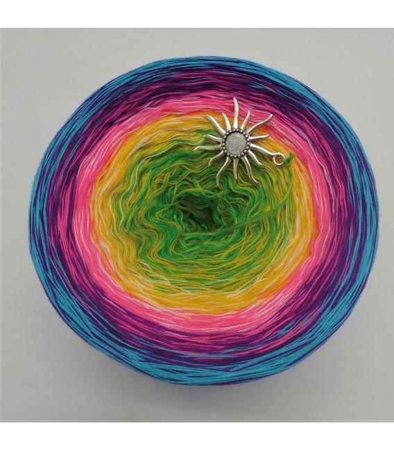 Sommerbunt mit Weiss - Farbverlaufsgarn 4-fädig - Bild 4