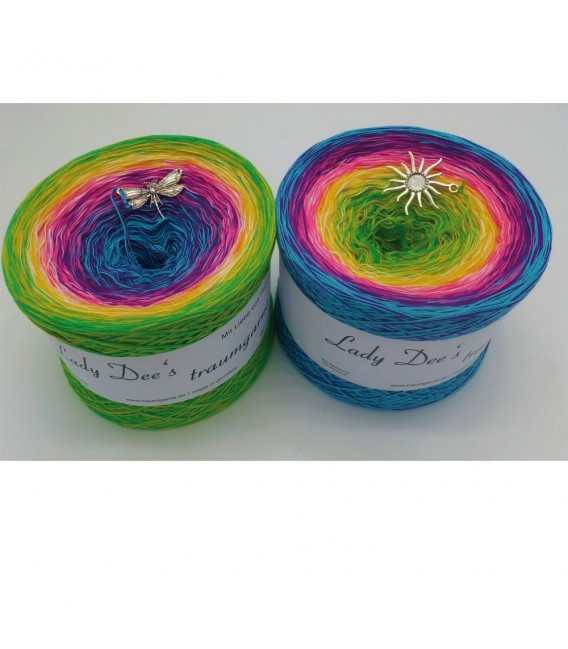 Sommerbunt mit Weiss (Summer colorful with white) - 4 ply gradient yarn - image 1