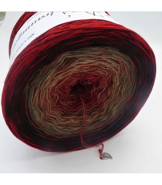 Edelchen in Burgund (Precious in Burgundy) - 4 ply gradient yarn - image 3