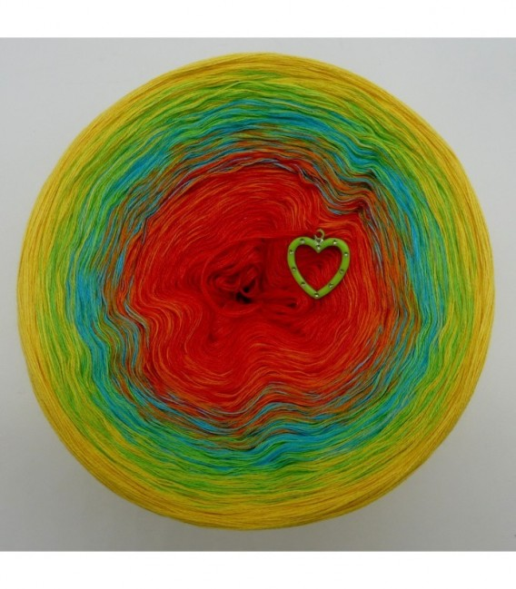 gradient yarn Over the Rainbow - lobster outside