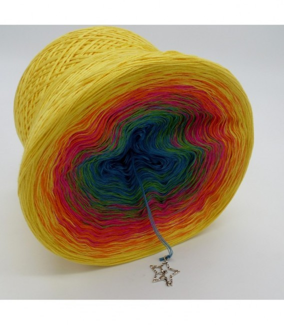 gradient yarn 4ply Fantasia - Light Petrol outside
