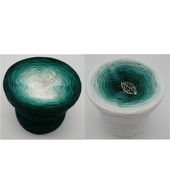 gradient yarn 4ply Peppermint - Fir Tree outside