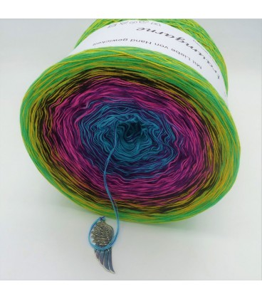 Sommerbunt mit Schwarz (Summer colorful with black) - 4 ply gradient yarn - image 8