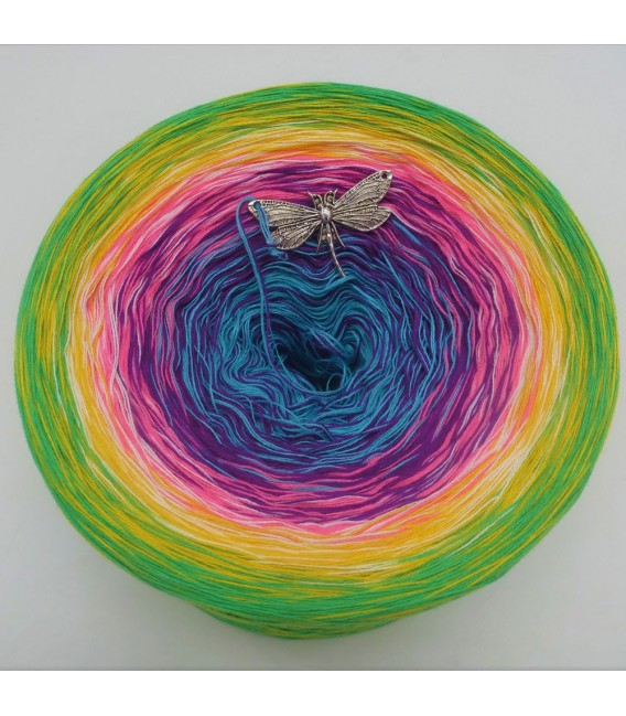 Sommerbunt mit Weiss - Farbverlaufsgarn 4-fädig - Bild 7
