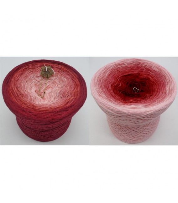 Rosenrot (Rose red) - 4 ply gradient yarn - image 1