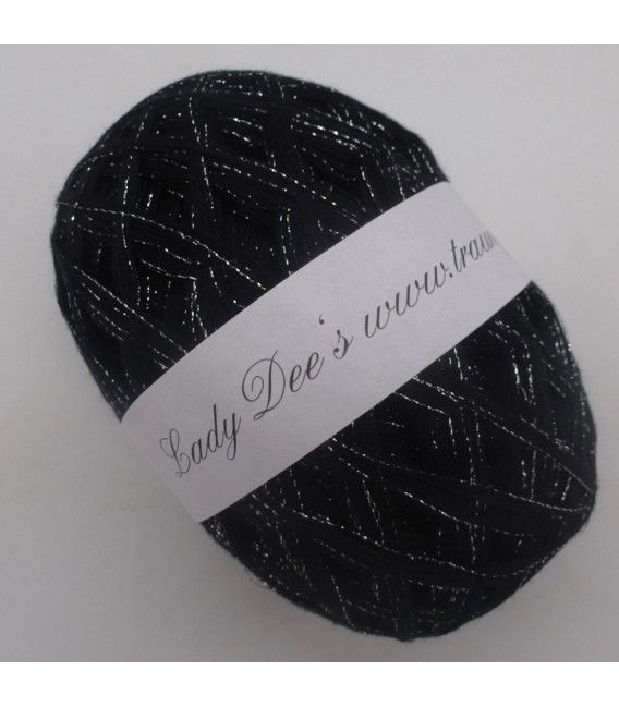 Lace Yarn - 017 black with glitter - image