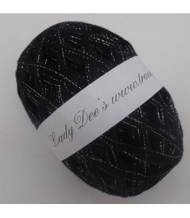 Lace Yarn - 017 black with glitter