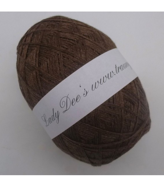 Lady Dee's Lace yarn - brown mottled - image