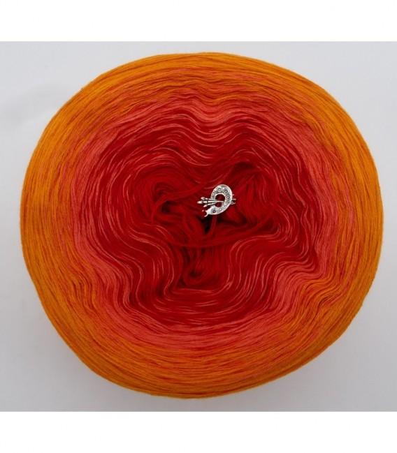 Blutorange (красного апельсина) - 3 нитевидные градиента пряжи - Фото 7